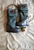 """Red Guelder Rose"" boots"